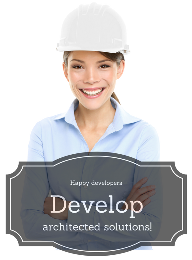 Want to smile like this developer? Partner with your security architect. The alternative is too frightening to comprehend! (Is it just me, or is this model everywhere?)